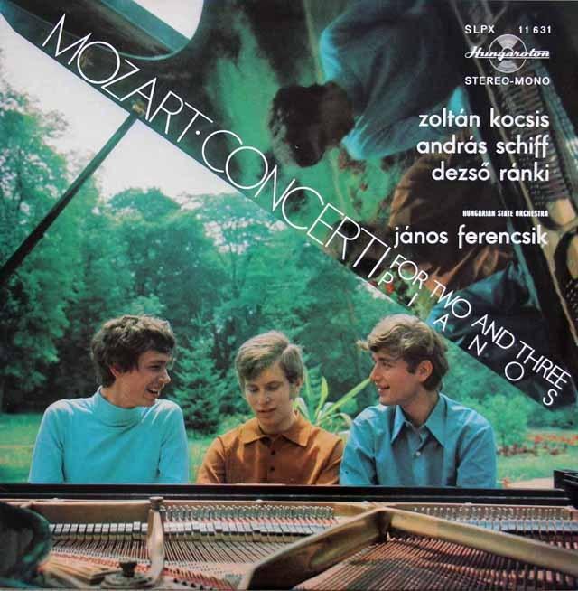 コチシュ、シフ、ラーンキのモーツァルト/ピアノ協奏曲第10&7番 ハンガリーHungaroton 2929 LP レコード