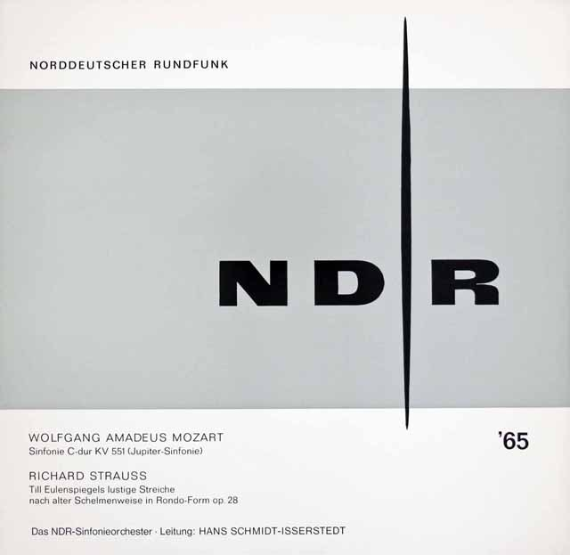 イッセルシュテットのモーツァルト/交響曲第41番「ジュピター」ほか 独NDR 2929 LP レコード