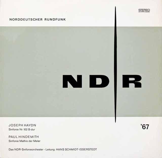 イッセルシュテットのハイドン/交響曲第102番ほか 独NDR 2929 LP レコード