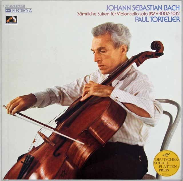 トルトゥリエのバッハ/無伴奏チェロ組曲全集 独EMI 2929 LP レコード
