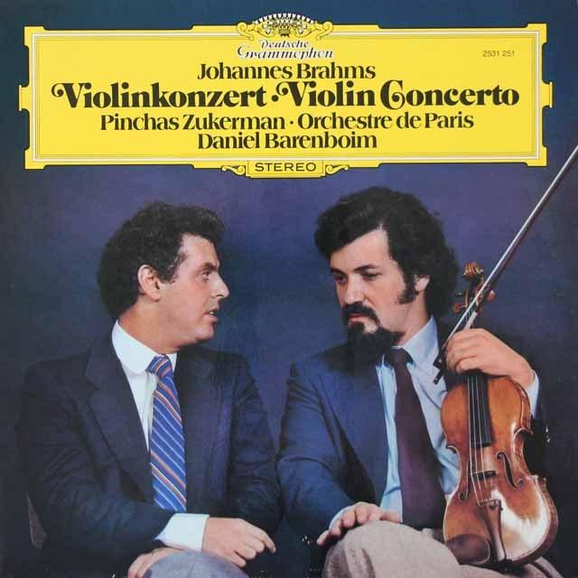 ズッカーマン&バレンボイムのブラームス/ヴァイオリン協奏曲  独DGG 3399 LP レコード