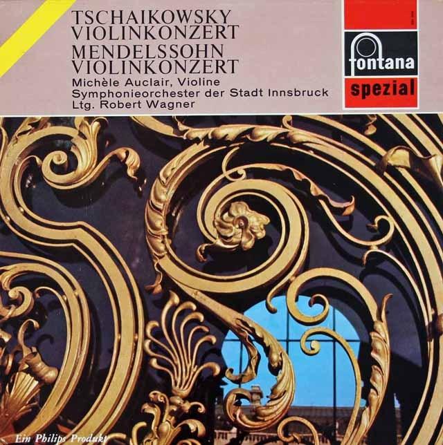 オークレールのチャイコフスキー&メンデルスゾーン/ヴァイオリン協奏曲集 蘭fontana 2931 LP レコード