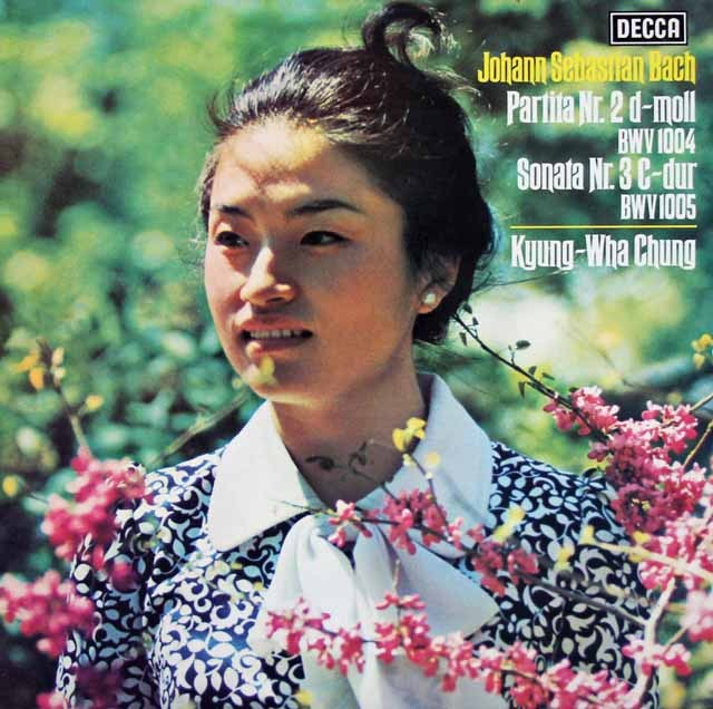 チョンのバッハ/無伴奏ヴァイオリンのためのパルティータ&ソナタ 独DECCA 2931 LP レコード