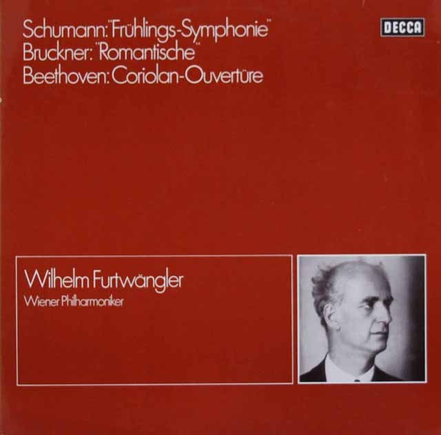 フルトヴェングラーのシューマン/交響曲第1番「春」ほか 独DECCA 3399 LP レコード
