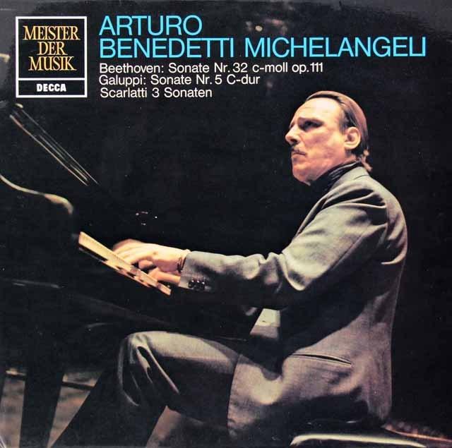ミケランジェリのベートーヴェン/ピアノソナタ第32番ほか 独DECCA 2931 LP レコード