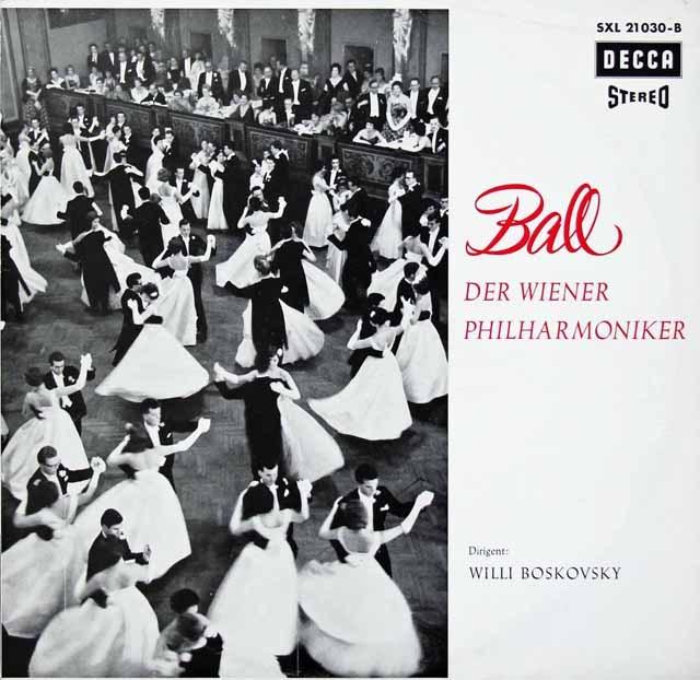 ボスコフスキー&ウィーン・フィルの舞踏会 独DECCA 3399 LP レコード