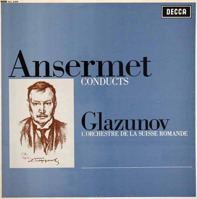 アンセルメのグラズノフ/バレエ音楽「四季」ほか 英DECCA 3399 LP レコード