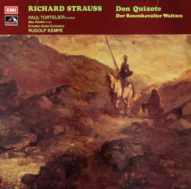 【オリジナル盤】トルトゥリエ&ケンペのR.シュトラウス/交響詩「ドン・キホーテ」ほか 英EMI 2931 LP レコード