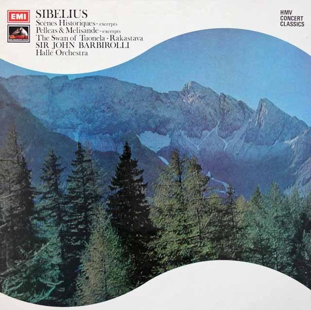 バルビローリのシベリウス/管弦楽曲集 英EMI 3399 LP レコード