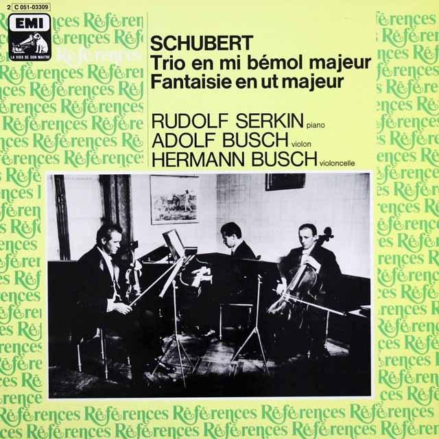 ゼルキン&ブッシュ兄弟のシューベルト/ピアノ三重奏曲第2番 仏EMI(VSM) 3399 LP レコード