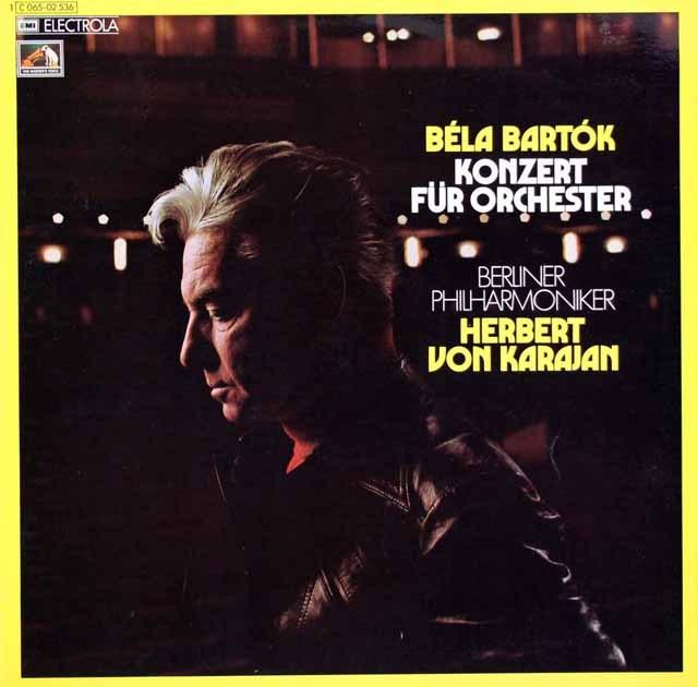 【独最初期盤】 カラヤンのバルトーク/管弦楽のための協奏曲 独EMI 3399 LP レコード