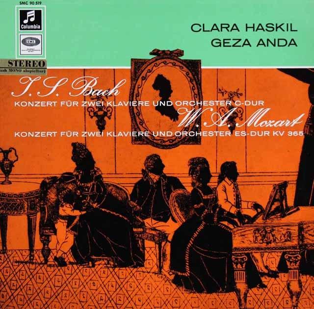 ハスキル&アンダのバッハ&モーツァルト/2台のピアノのための協奏曲 独Columbia 2931 LP レコード