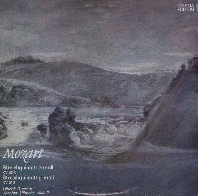 ウルブリヒ四重奏団のモーツァルト/弦楽五重奏曲第2&4番 独ETERNA 2931 LP レコード