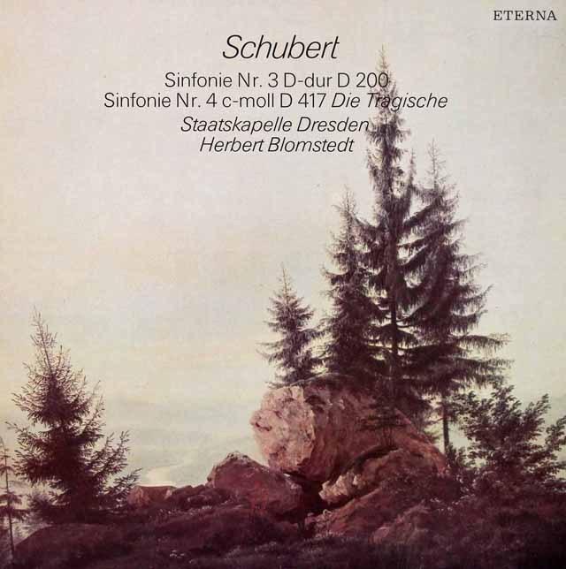 ブロムシュテットのシューベルト/交響曲第3&4番 独ETERNA 2931 LP レコード