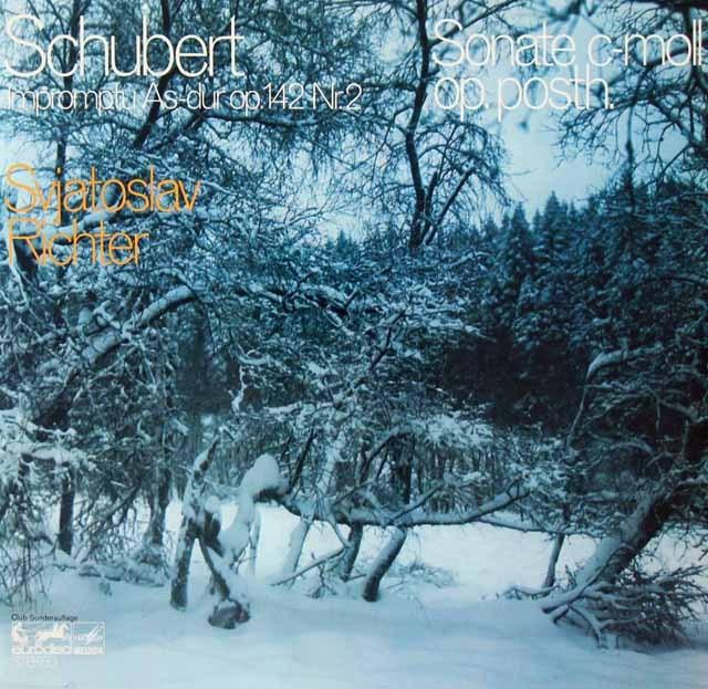 リヒテルのシューベルト/ピアノソナタ第19番ほか 独eurodisc 3399 LP レコード