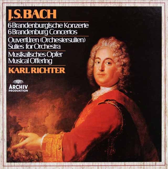 リヒターのバッハ/ブランデンブルク協奏曲全曲ほか 独ARCHIV 2931 LP レコード
