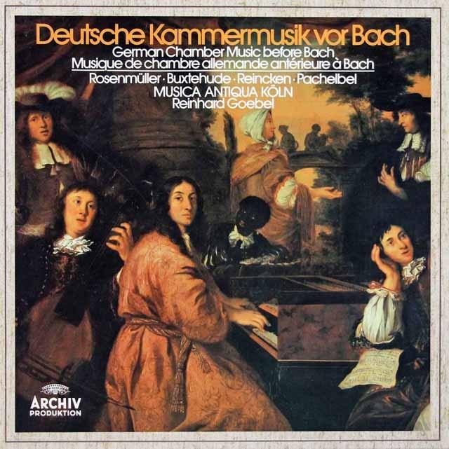ムジカ・アンティクヮ・ケルンのバッハ以前の室内楽曲集 独ARCHIV 2931 LP レコード