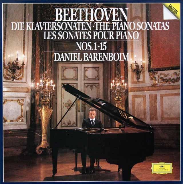 バレンボイムのベートーヴェン/ピアノソナタ第1番から第15番 独DGG 2931 LP レコード