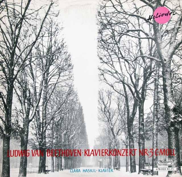 ハスキルのベートーヴェン/ピアノ協奏曲第3番 独Heliodor 2933 LP レコード