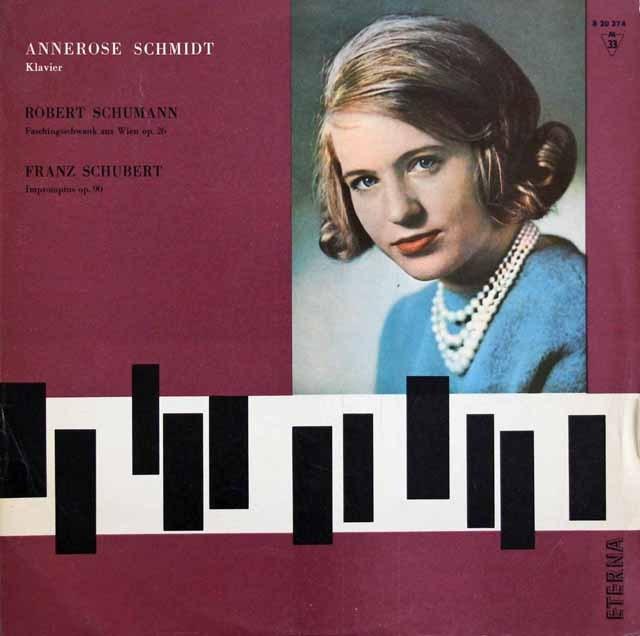 【テストプレス】シュミットのシューマン&シューベルト/ピアノ作品集 独ETERNA 2933 LP レコード