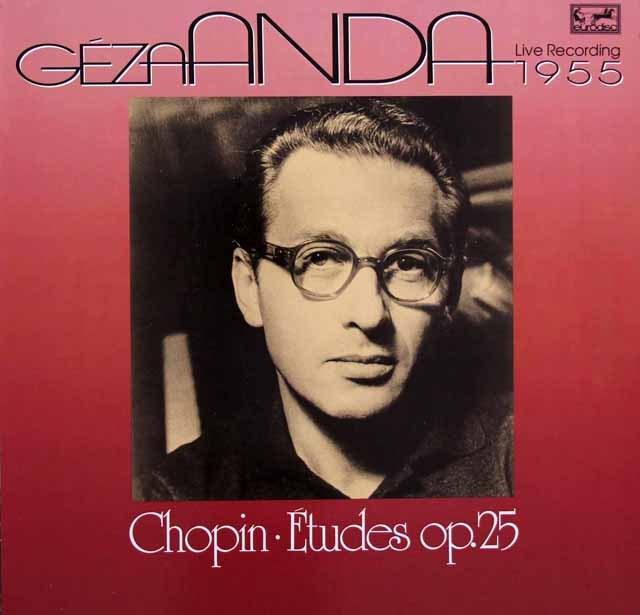 アンダのショパン/「12の練習曲」ほか 独eurodisc 2933 LP レコード