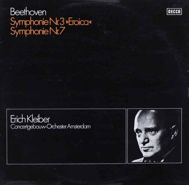 エーリヒ・クライバーのベートーヴェン/交響曲第3&7番 独DECCA 2933 LP レコード