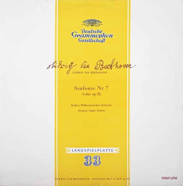 ヨッフムのベートーヴェン/交響曲第7番 独DGG 3398 LP レコード