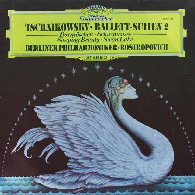 ロストロポーヴィチのチャイコフスキー/「白鳥の湖」&「眠りの森の美女」 独DGG 3398 LP レコード