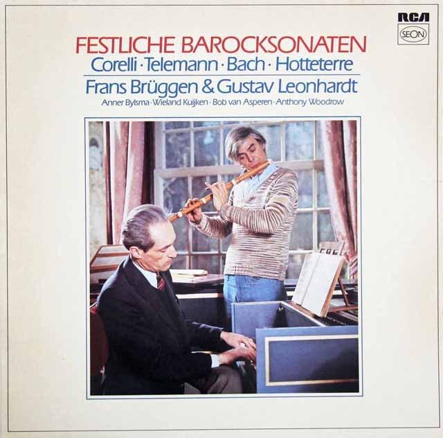 ブリュッヘン&レオンハルトらのバロック・ソナタ集 独RCA(SEON) 2933 LP レコード