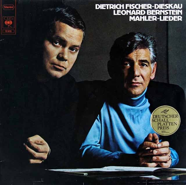 D.F=ディースカウ&バーンスタインのマーラー/歌曲集 独CBS 3398 LP レコード