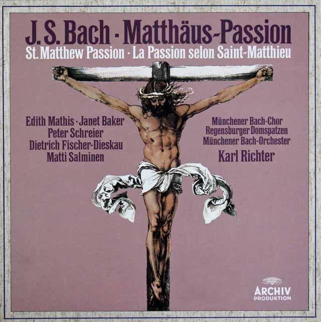リヒターのバッハ/「マタイ受難曲」全曲 独ARCHIV 2933 LP レコード