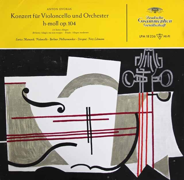 マイナルディのドヴォルザーク/チェロ協奏曲ロ短調  独DGG 2934 LP レコード