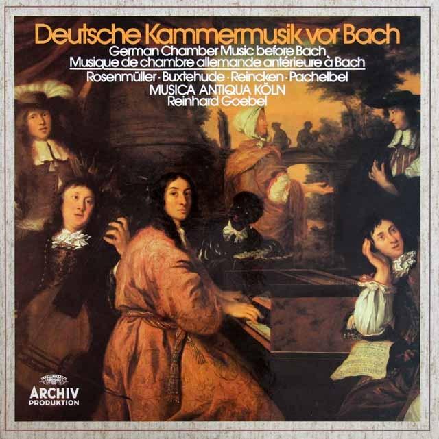 ムジカ・アンティクヮ・ケルンのバッハ以前の室内楽曲集   独ARCHIV 2934 LP レコード