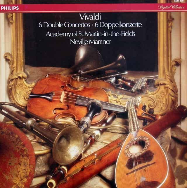 マリナー&アカデミー室内管弦楽団のヴィヴァルディ/二重協奏曲集 蘭DECCA 3398 LP レコード