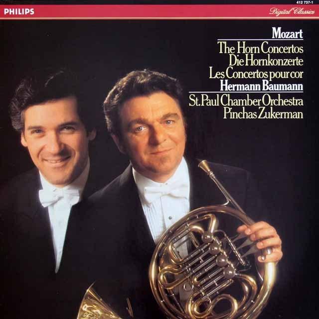 バウマン&ズッカーマンのモーツァルト/ホルン協奏曲集 蘭PHILIPS 3398 LP レコード