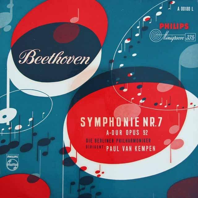 ケンペンのベートーヴェン/交響曲第7番    独PHILIPS 2934 LP レコード