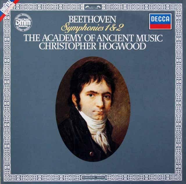 ホグウッドのベートーヴェン/交響曲交響曲第1&2番 独DECCA 3398 LP レコード
