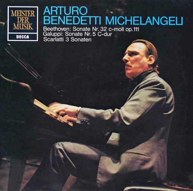 ミケランジェリのベートーヴェン/ピアノソナタ第32番ほか    独DECCA 2936 LP レコード