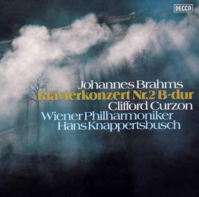 カーゾン&クナッパーツブッシュのブラームス/ピアノ協奏曲第2番    独DECCA 2936 LP レコード