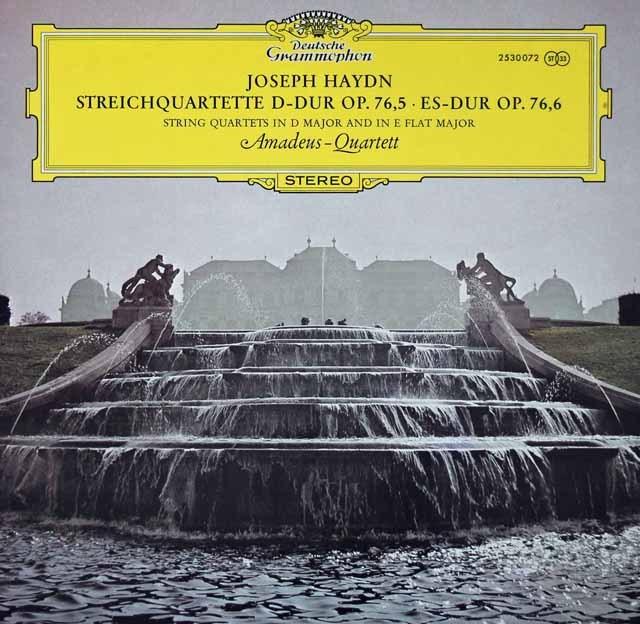 アマデウス四重奏団のハイドン/弦楽四重奏曲第79&80番    独DGG 2936 LP レコード