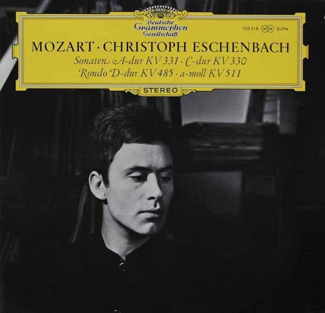 エッシェンバッハのモーツァルト/ピアノソナタ第10&11番ほか    オーストリアDGG 2936 LP レコード