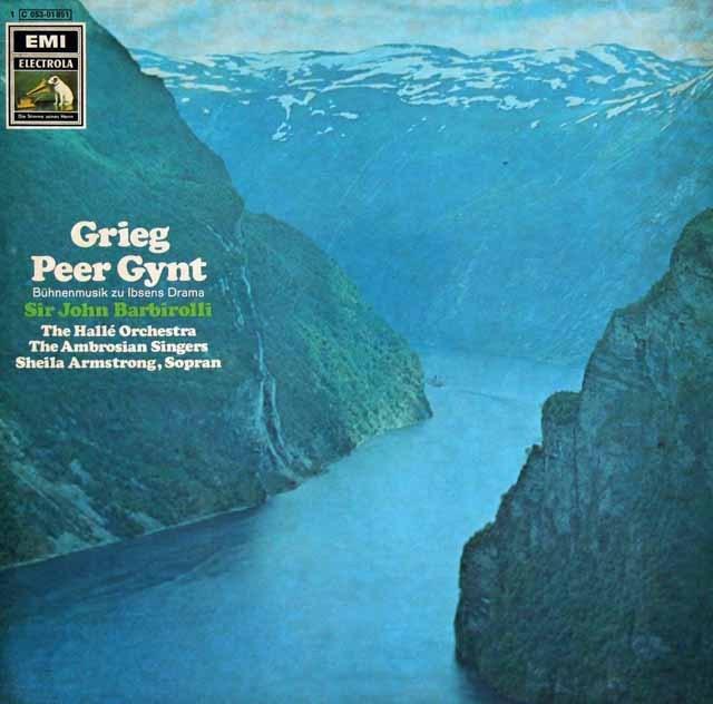バルビローリのグリーグ/劇音楽「ペール・ギュント」抜粋  独EMI 2936 LP レコード