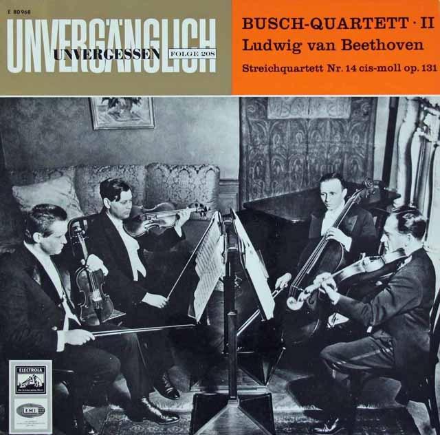 ブッシュ四重奏団のベートーヴェン/弦楽四重奏曲第14番   独EMI 2936 LP レコード