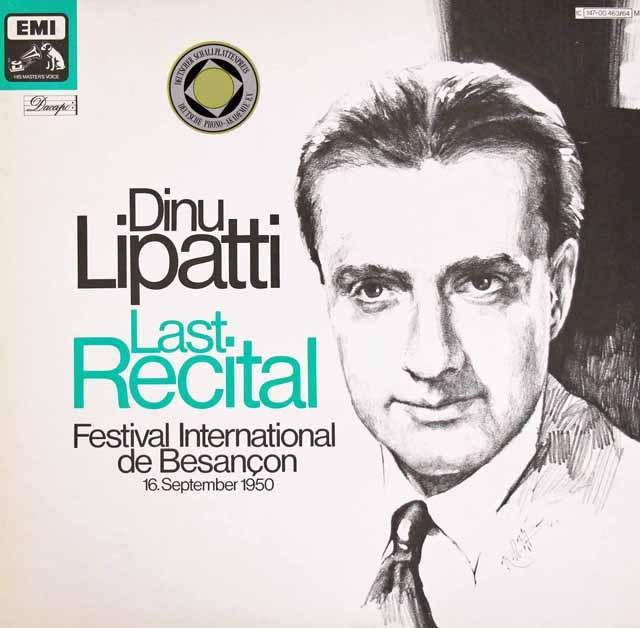 リパッティの「最後の演奏会」  独EMI 3397 LP レコード