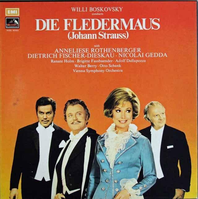 ボスコフスキーのJ.シュトラウス/「こうもり」全曲  英EMI 2936 LP レコード
