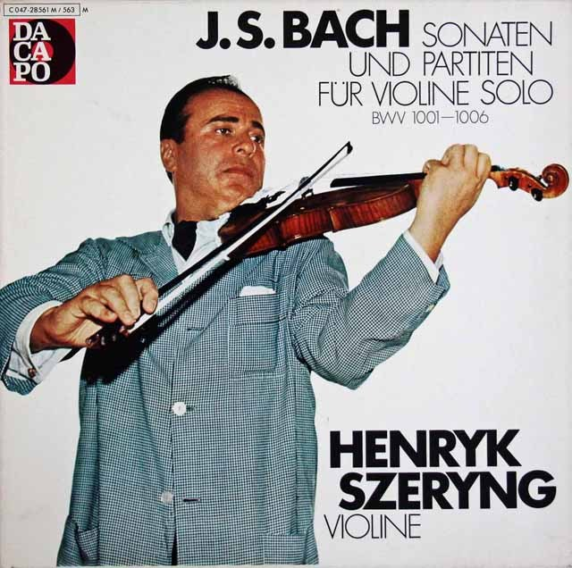 シェリングのバッハ/無伴奏ヴァイオリンソナタとパルティータ 独Dacapo 3397 LP レコード