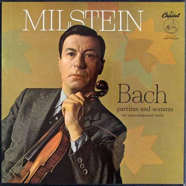 【オリジナル盤】ミルシュタインのバッハ/無伴奏ヴァイオリンソナタとパルティータ 英Capitol 2936 LP レコード