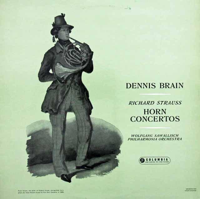 ブレイン&サヴァリッシュのR.シュトラウス/ホルン協奏曲集 英Columbia 3397 LP レコード