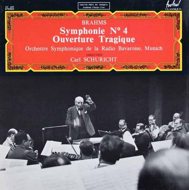 シューリヒトのブラームス/交響曲第4番&悲劇的序曲 仏FC 2937 LP レコード