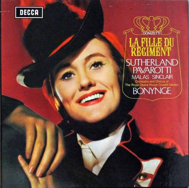 サザーランド&パヴァロッティのドニゼッティ/「連隊の娘」全曲 英DECCA 2937 LP レコード